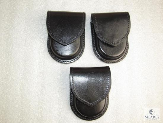 3 new leather ammo wallets/handcuff cases