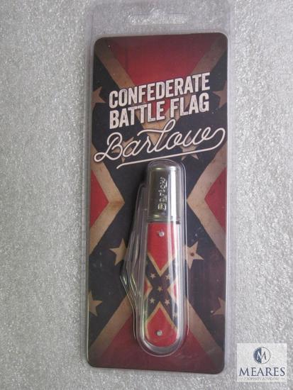 New Barlow 2 blade confederate flag pocket knife