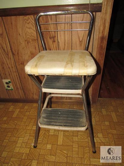 Vintage Cosco Metal Step Stool Bar stool chair