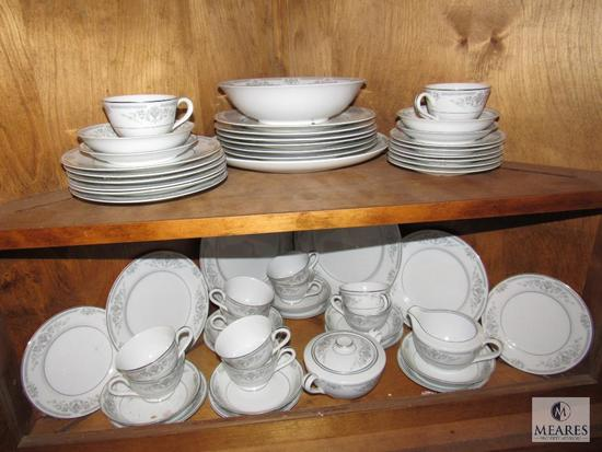 Lot of China Dishes Rose China Brenda Plates, Saucers, Bowls, Cups +