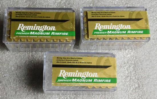 Lot 120 Rounds Remington Premier Magnum Rimfire .22 WIN MAG 33 GR. Ammo