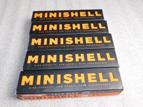 """Lot 100 Shells 12 Gauge MINISHELL  1-3/4"""" Lead Slugs"""