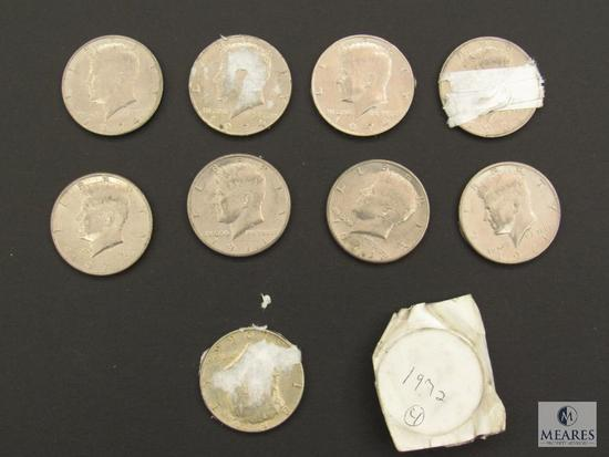 Mixed lot of (13) Kennedy Half Dollars