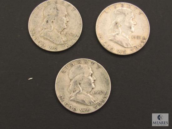 Lot of (3) Franklin Half Dollars
