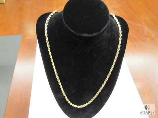 """Rope Necklace Marked 14k - Yellow Gold 24"""""""