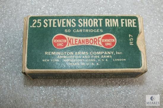 Rare Remington .25 Stevens Short rimfire ammo 30 rounds
