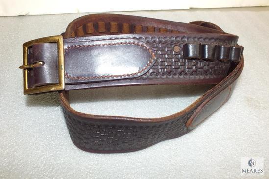 "Idaho leather 42"" waist 44 caliber cartridge belt"