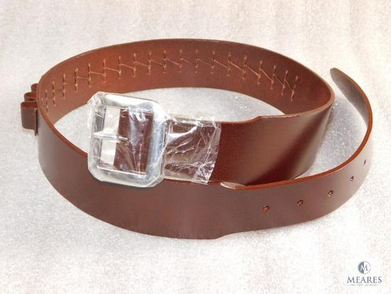 "New leather .44/.45 caliber cartridge belt 32-26"" waist"