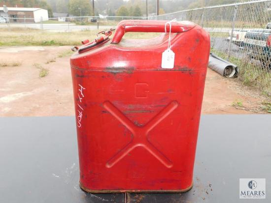 Blitz Metal Fuel Can approximately 5 gallon