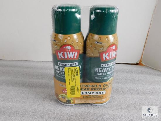 Lot 2 Cans Kiwi Camp Dry Heavy Duty Water Repellent Tough Silicone Spray 10.5 oz Each