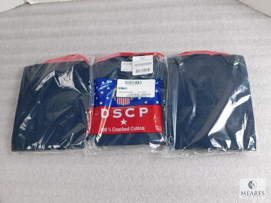 Lot 3 New DSCP Mens Navy T-Shirts Undershirts All Size XX-Large