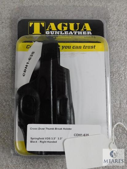 "Tagua Cross Draw Thumb Break Holster fits Springfield XDS 3.3"" Black Right Handed"