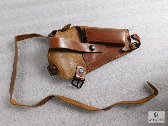 Vintage tanker leather holster