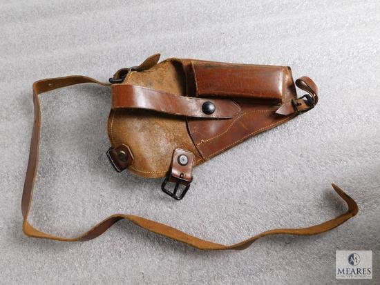 Vintage tanker leather holster