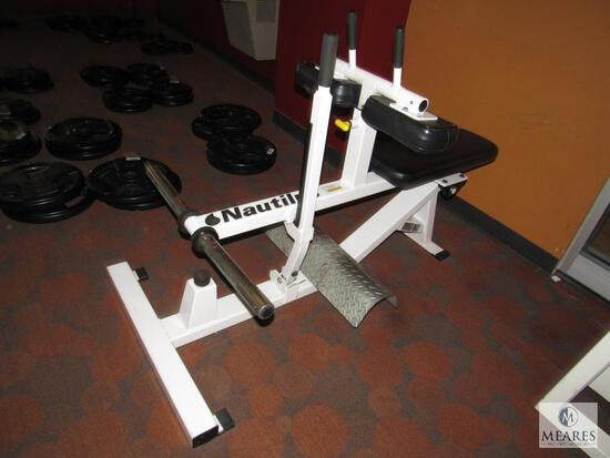 Nautilus XPload Seated Calf & Dorsal Weight Machine