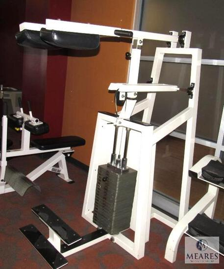 In-Shape calf weight machine Shoulder lift with 400-pound weight stack