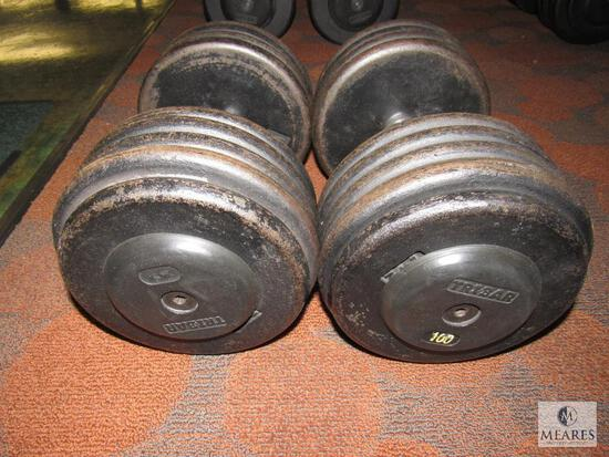 Lot of 2: 100 pound dumbbells