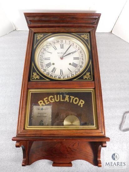 Vintage Seth Thomas Regulator Wall Clock, Mantle Clock, School Clock in Wooden Box, Wooden Case