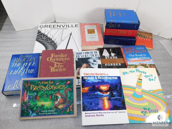 Lot of approx. 15 Assorted Books, Oh The Places You?ll Go, Simple Abundance, What I Saw At The