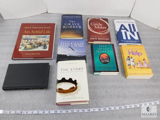 Lot of approx. 9 Assorted Books, The Help, All In, The Store, Chase The Lion - See Photos