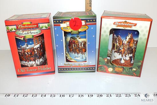 Budweiser Collectors Holiday Beer Steins