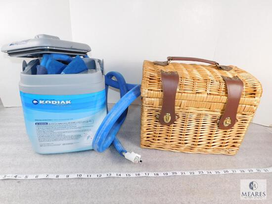 Kodiak Polar Care Cold Therapy System and Picnic Basket with Glasses