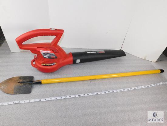 Homelite 2 Speed Electric Blower and Ashton Shovel