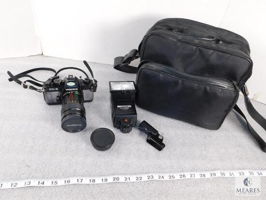 Yashica FX-3 Photography Set with Camera, Camera Bag, and Attachments