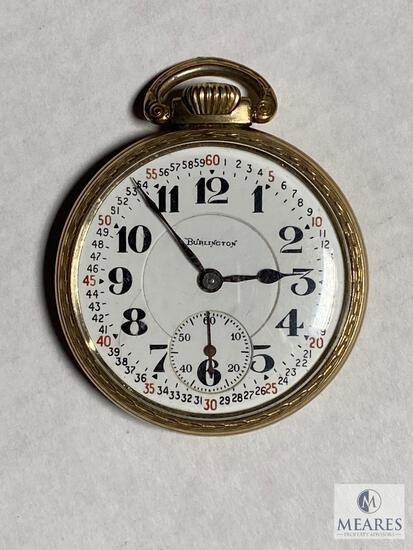 Burlington Double Roller Pocket Watch