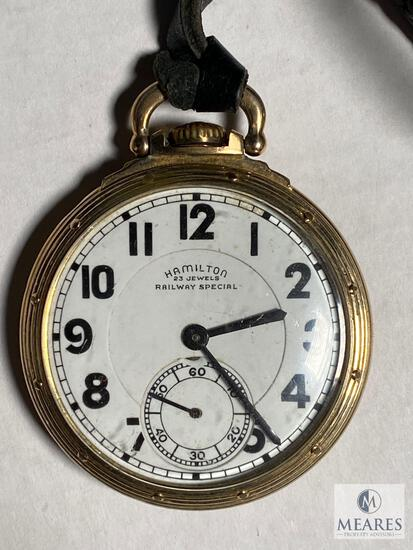 Hamilton Railway Special Motor Barrel 950 Pocket Watch