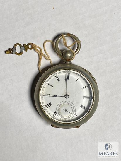 Double open face key-wind pocket watch