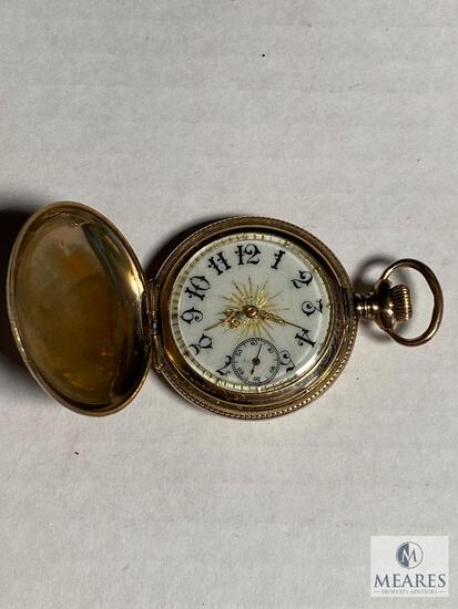 Pocket watch with hunting case