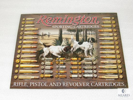 New Vintage look Tin Sign Remington Sporting Cartridges Rifle, Pistol, Revolver Ammo