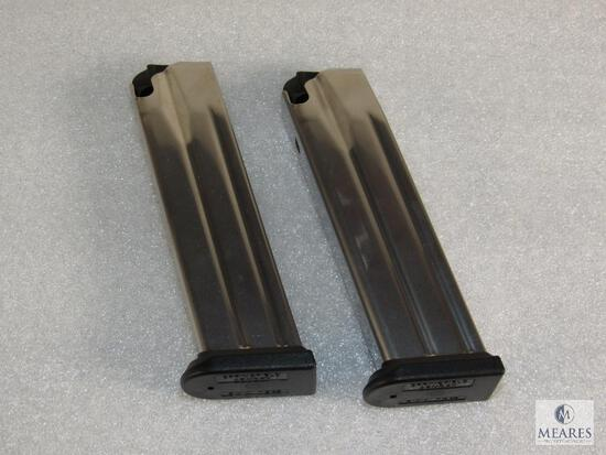 Lot 2 Factory Stainless Springfield XDM 9mm 19 Round Magazines