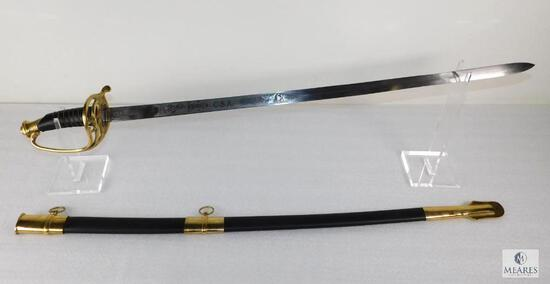 CSA Confederate Cavalry Officers Sword Civil War Reproduction with Scabbard