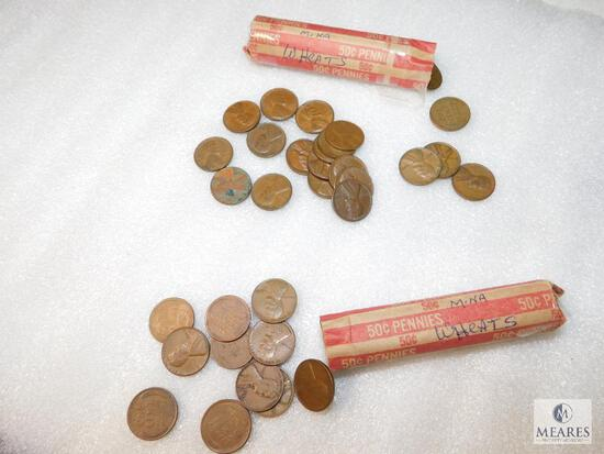 Two Rolls of Wheat Cents