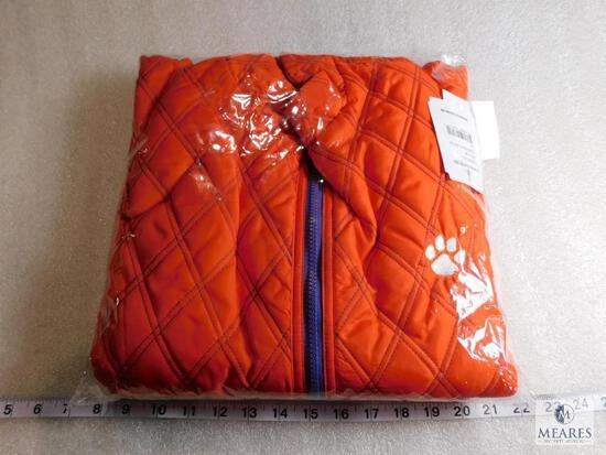 New Ladies Clemson Tigers University Reversible Puffer Vest Size 3XL