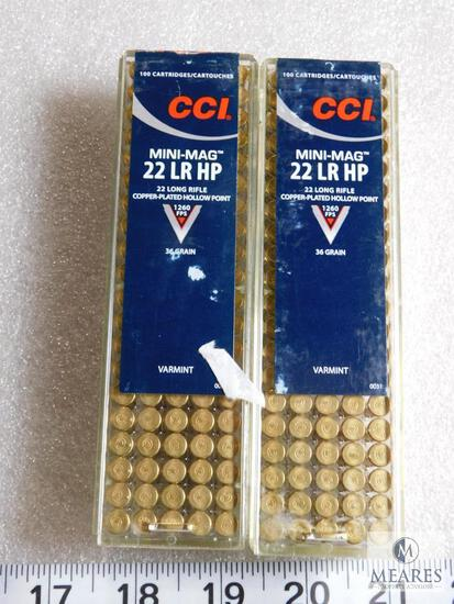 200 Rounds CCI Mini-Mag .22 LR HP Ammo 36 Grain