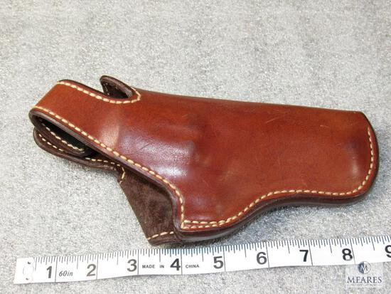 """Bianchi leather thumb break holster fits 4"""" S&W 29,27,57 and similar"""