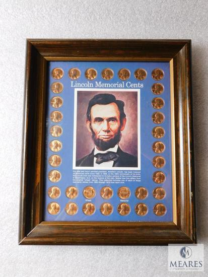 Framed Lincoln Memorial Cent collector set
