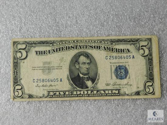 Series 1953 US $5 small size note