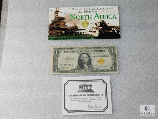 Series 1935-A US $1 World War II - North African Emergency silver certificate