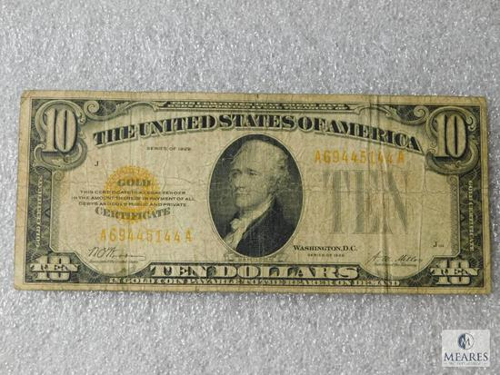 US $10 Gold Certificate - Series of 1928