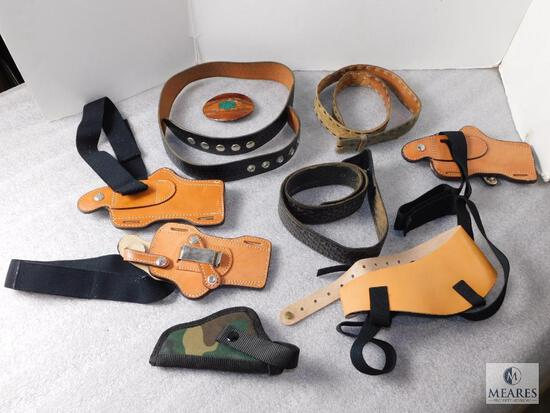 Holster & Accessory Assorted Lot Leather & Nylon