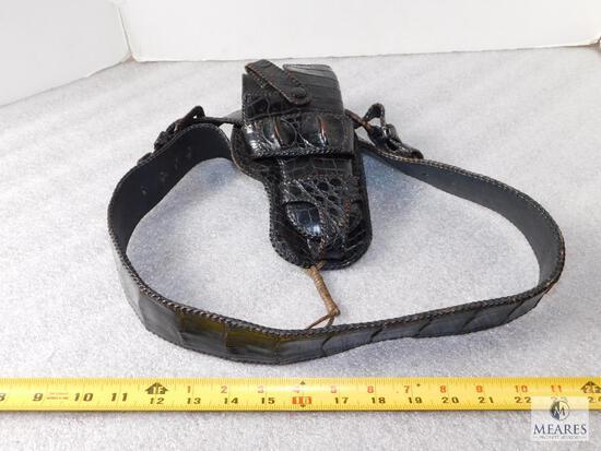 Crocodile Pattern Leather Holster Belt & Holster fits Colt 1911