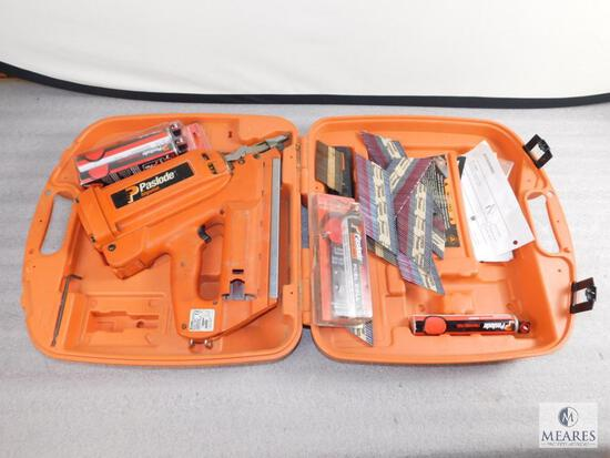 Paslode Impulse IMCT Framing Nailer with Case, Fuel Cans, Nails, and Battery
