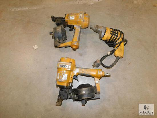 Lot of 2 Bostitch Pneumatic Nailers & Dewalt Electric Drill