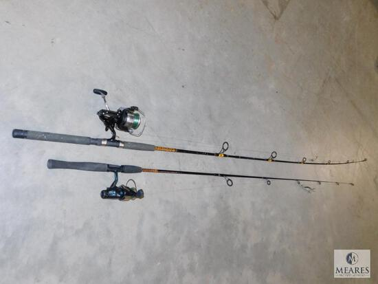 Lot 2 Fishing Rod & Reels Browning SilaFlex & Shimano Baitrunner 6000