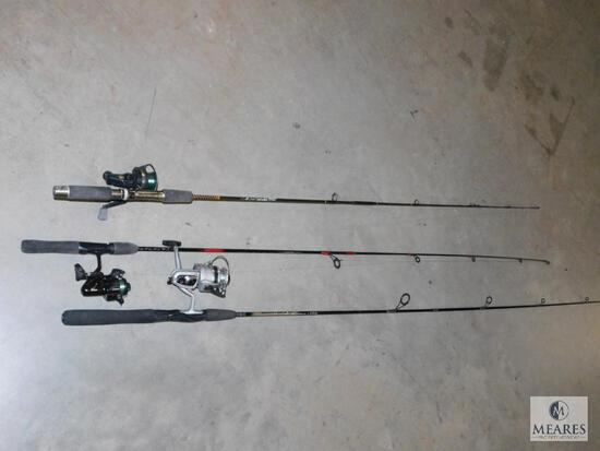 Lot of 3 Fishing Rod & Reels Daiwa, and Cardinal Reels