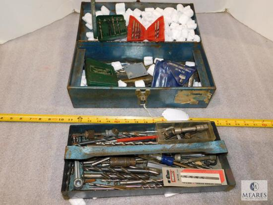 Tool Box with assorted Tools and Drill Bits